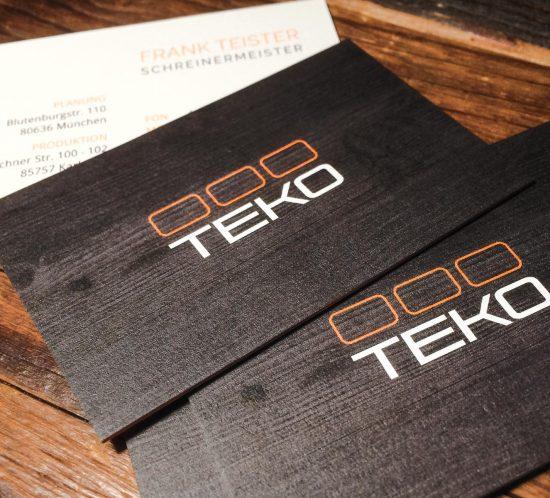 Logo Design für die Schreinerei TEKO in Karlsfeld