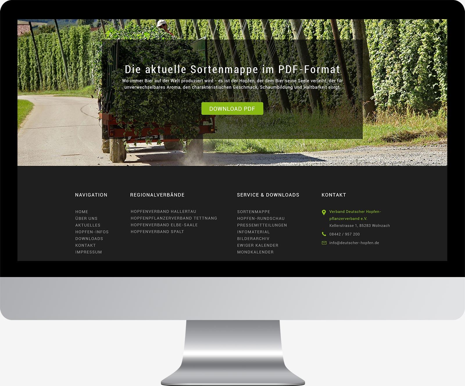 Webdesign Dachau - Deutscher Hopfenverband