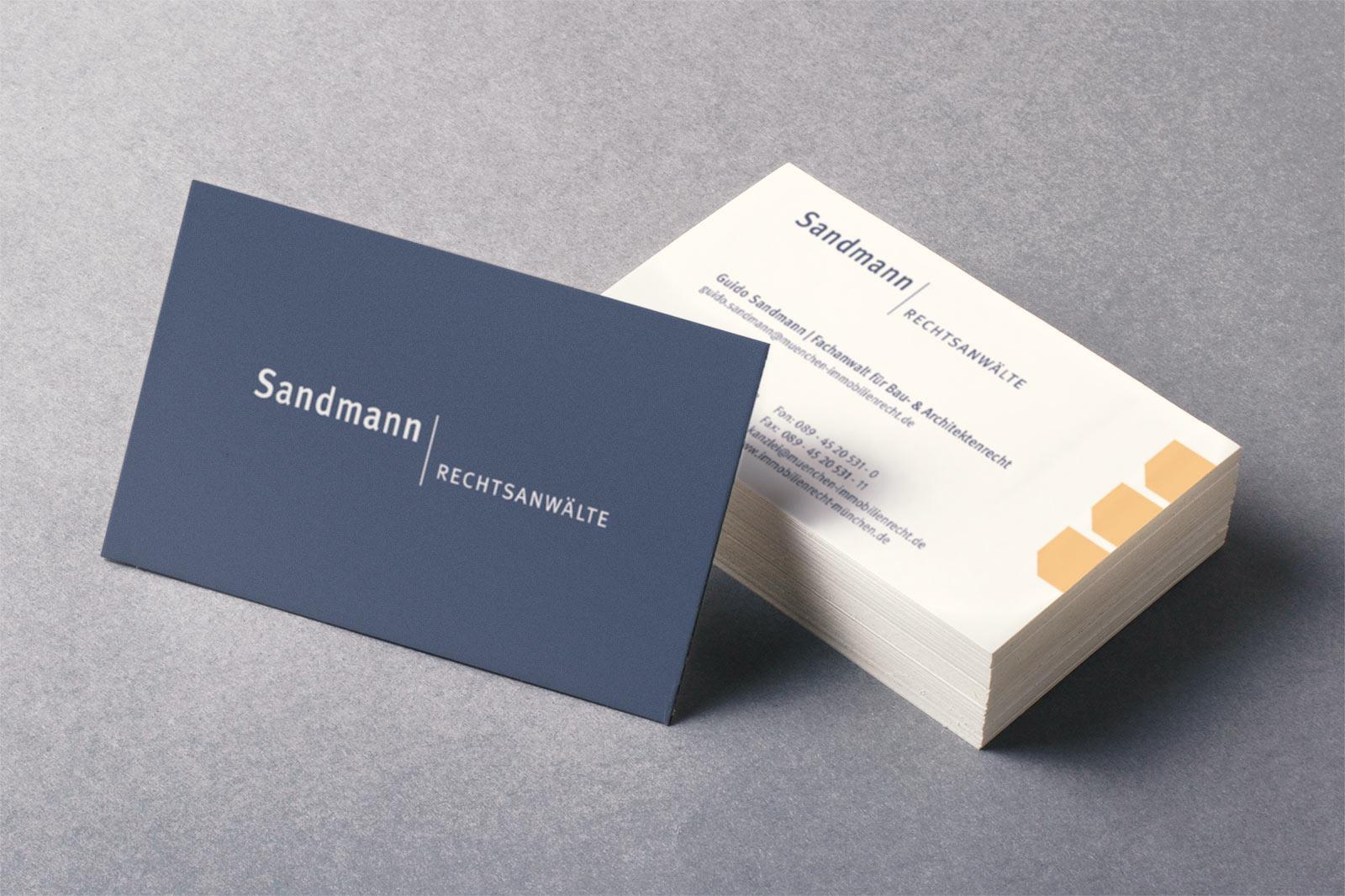 Werbeagentur Dachau - RA Sandmann Visitenkarten