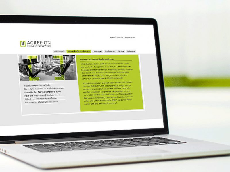 Werbeagentur Dachau agree.on Webdesign