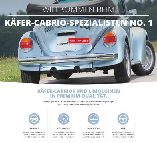 Grafikdesign Dachau - Webdesign Feine Cabrios