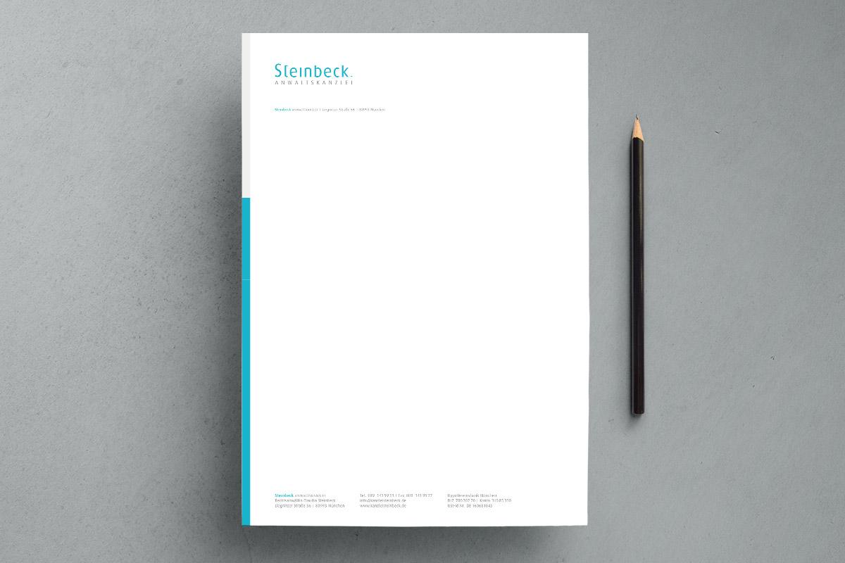 Grafikdesign - Anwaltskanzlei Steinbeck