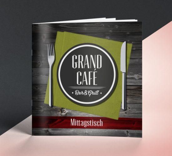 Grafikagentur Dachau - Flyer Grand Cafe München