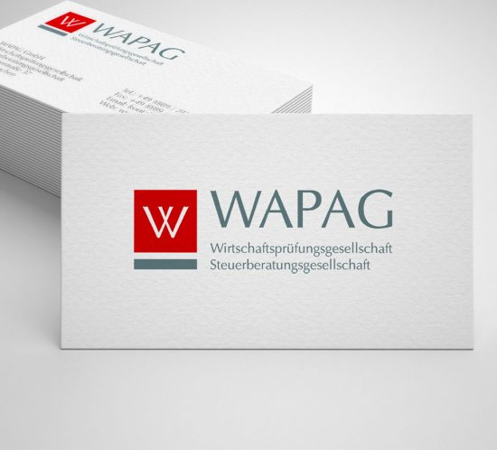 Grafikdesign Dachau . Wapag GmbH . Logo & Visitenkarte