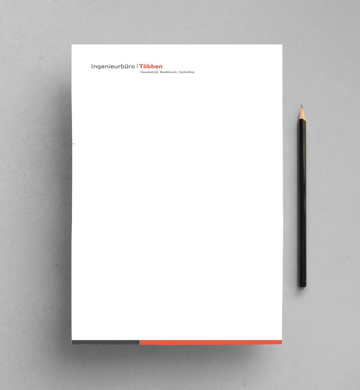 Briefpapier Ingenieurbüro Többen