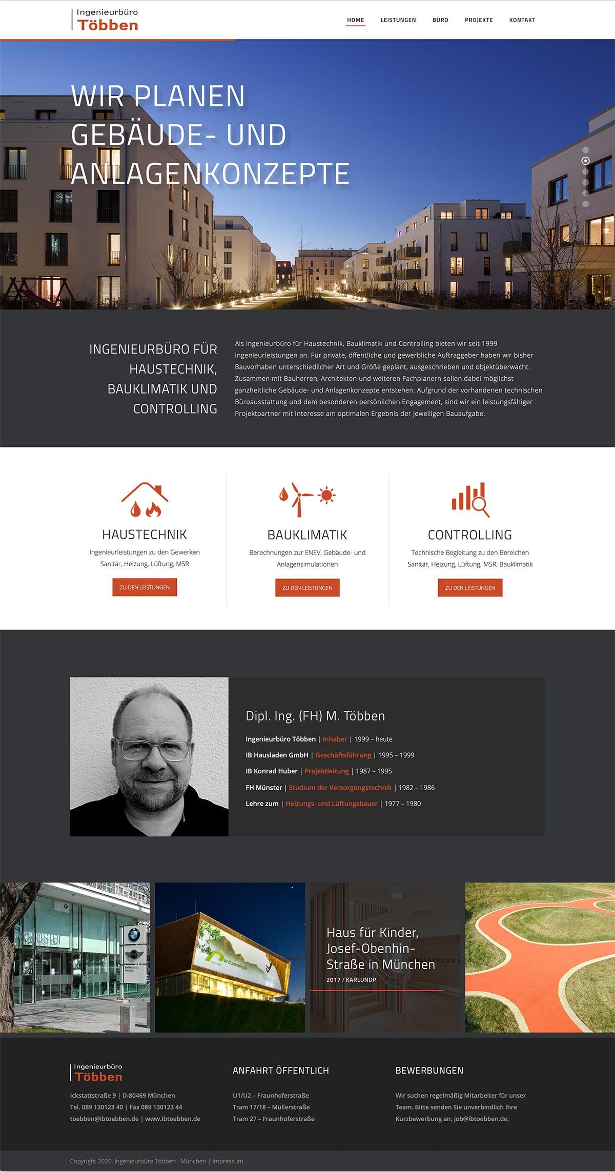 Webdesign Ingenieurbüro Többen