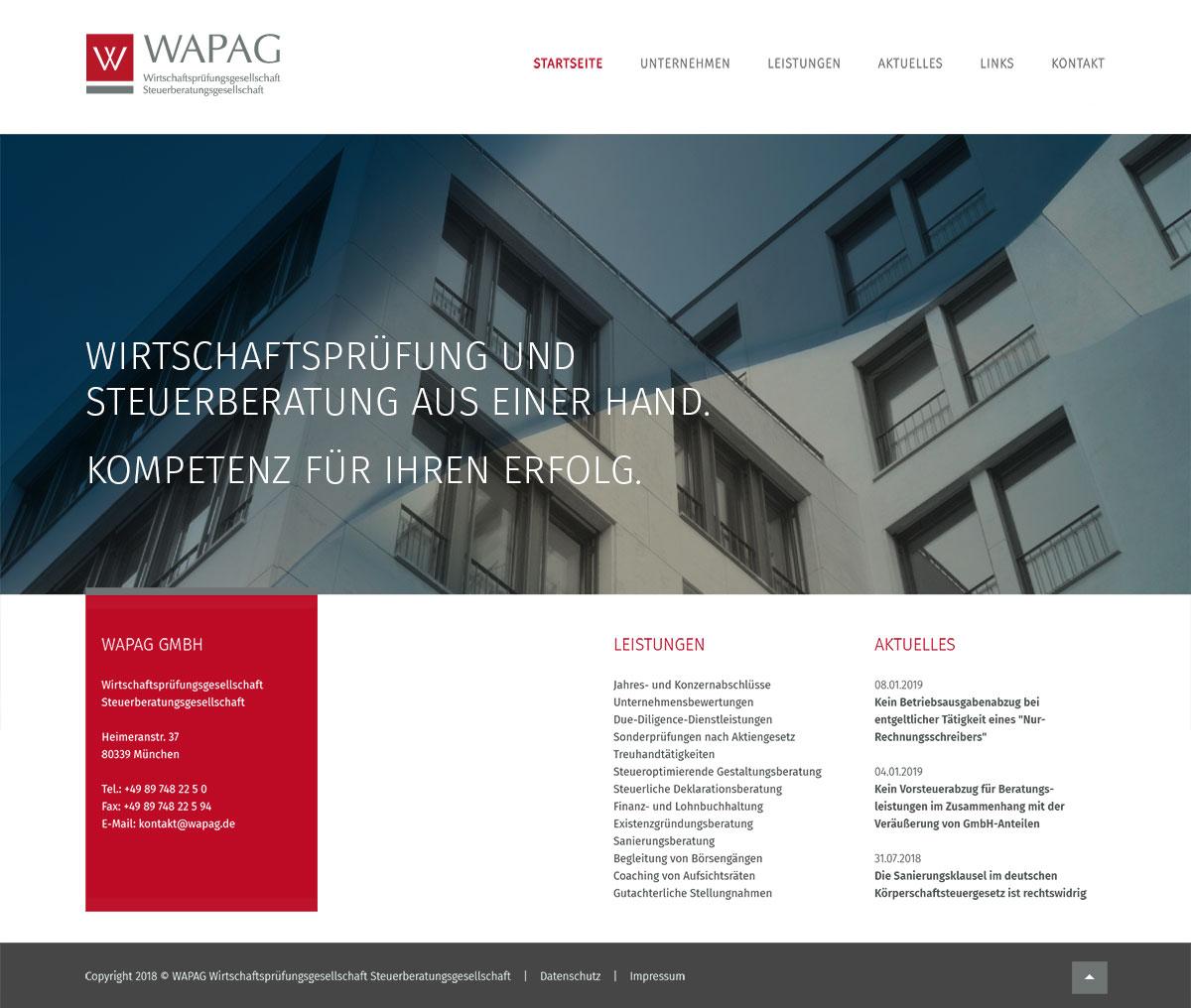 Webdesign Dachau . Wapag GmbH